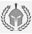 Knight icon with laurel wreath vector image