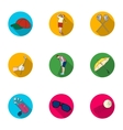 Golf club set icons in flat style Big collection vector image vector image