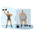 Retro weightlifter vector image vector image