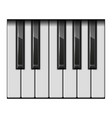 piano one octave keys vector image