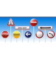 Danger traffic board mix collection vector image