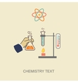 Chemistry infographic infographics template vector image