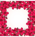 Plum blossom frame vector image