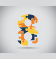 Number eight vector image