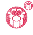 Gift box simple single color icon isolated on vector image