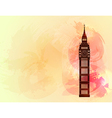 Big ben on colorful background vector image