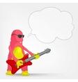Funny Monster Rock Star vector image