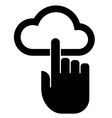 Hand on cloud icon vector image