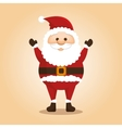 happy merry christmas santa claus character vector image