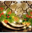 New Year Snake Background vector image