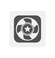 quality control at home icon with fan sign vector image