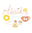 Thank you design with sweets vector image