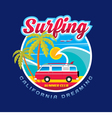 Surfing California dreams vector image