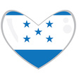 Isolated Honduran flag vector image