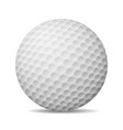 Realistic Golf Ball Isolated On White vector image vector image