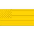 Gold USA flag vector image vector image