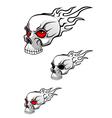 danger evil skull vector image