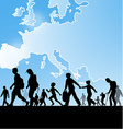 immigration people vector image