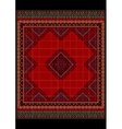 Delicate ethnic pattern of the carpet in red vector image