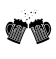 black beer glasses icon image design vector image