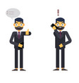 buisnessman isolated character on whte with phone vector image