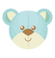 cute bear teddy isolated icon vector image