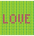 Knitted Love seamless pattern vector image