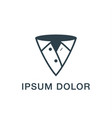 pointer and clothing abstract icon vector image