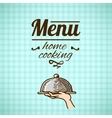 Restaurant menu design sketch vector image