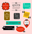 Retro Quotation mark speech bubble vector image