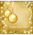 Happy New Year Beautiful Gold Design vector image