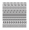 Seamless greek pattern set vector image vector image