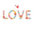 Festive beautiful inscription love Valentines Day vector image vector image