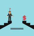 businessman and an obstacle to success vector image