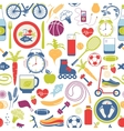 Colorful Healthy Lifestyle Themed Graphics vector image