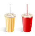 Fast food paper cups vector image