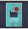 movie cinema festival poster flat design modern vector image