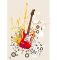 Retro Guitar Icon vector image