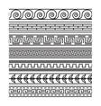 Seamless greek pattern set vector image
