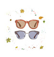 set of stylish sunglasses accessories on the vector image