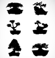 Set of trees in pots vector image