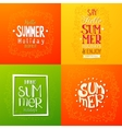 Summer holidays hand drawn posters vector image
