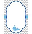 Baby Boy Invitation Card vector image
