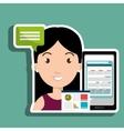 woman smartphone billing icon vector image