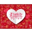together forever hand written lettering love and vector image vector image