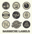 Vintage BBQ Labels and Icons vector image