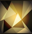 low poly design element on gold gradient vector image
