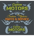 Custom motors - emblem set vector image