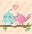 bird valentine vector image