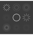 Set of sparkles and starbursts design elements vector image